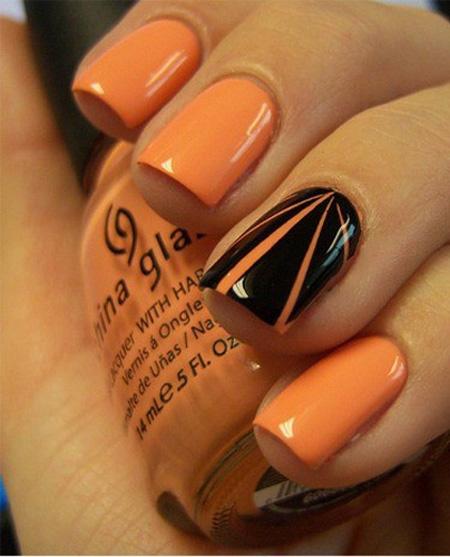 Nail Colors Halloween: Manicure Halloween Nail Art 2012-04
