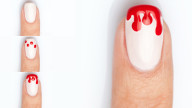 Halloween 2013: bloody nail art