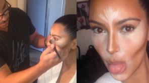 Il contouring di Kim Kardashian