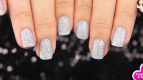Tutorial glitter nails
