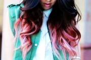 womens-black-and-pink-ombre-hair-extensions-curly-black-and-pink-ombre-hair-extensions-f44571