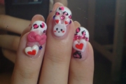 3d-nail-art-lovely-and-cute-rabbit-nail-art-design-idea-with-3d-love-sign-acrylic-nail-designs-3d