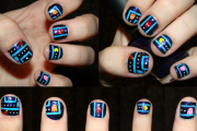 pacman_nails_by_myafko-d4sqn48