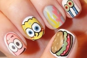 sponge-bob-funny-nails