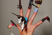 London. The London Nailympics at the Olympia Beauty Show.Fantasy nail art.Stephanie Schaerer20/09/2010Tel: 07878466804