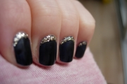 matte-black-glitter-crescent-nails