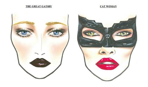 Trucco Halloween Catwoman.Trucco Halloween Catwoman Great Gatsby Vanities