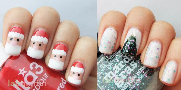 manicure natalizia